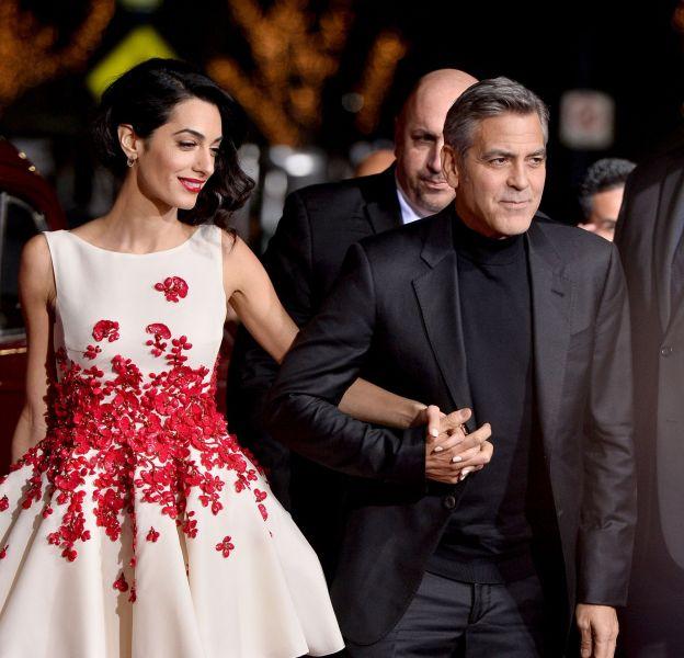 """George Clooney et Amal Clooney à la première du film """"Ave Cesar !"""" à Los Angeles, le 1er février 2016."""