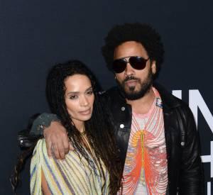 Lenny Kravitz et son ex-femme Lisa Bonet au défilé Saint Laurent Paris Automne-Hiver 2016/2017, à Los Angeles.