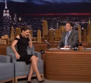 Katie Holmes sur le plateau de Jimmy Fallon.
