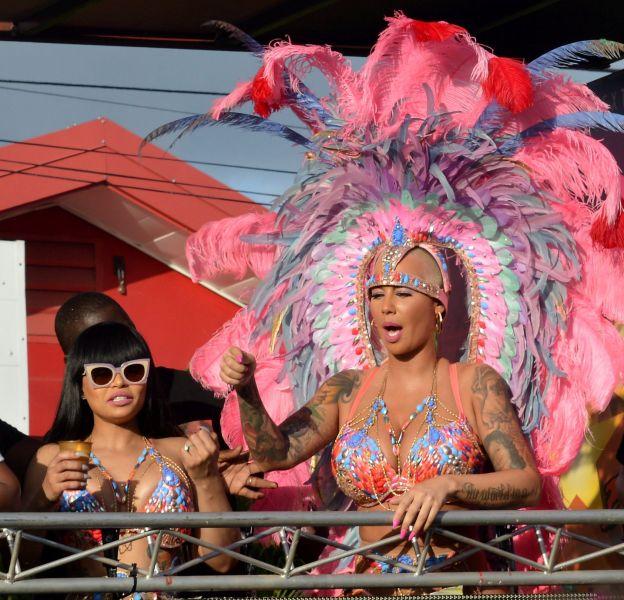 Amber Rose et Blac Chyna au carnaval de Trinidad et Tobago.