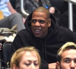Jay-z dans les gradins du défilé Yeezy Season 3.