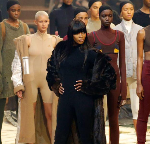 Naomi Campbell au défilé Yeezy Season 3.