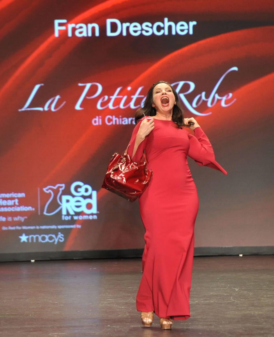 "Fran Drescher à la soirée ""Go Red For Women""."