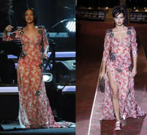 Rihanna vs Adriana Lima : la robe transparente et brodée Marc Jacobs