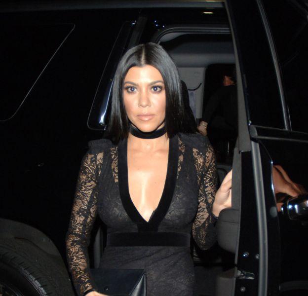 Kourtney Kardashian à la soirée privée de Justin Bieber ce lundi 15 février 2016.