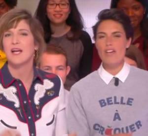 Alessandra Sublet déjantée : elle simule un orgasme à la télé