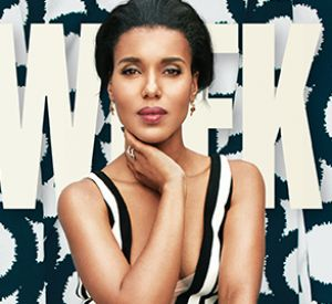 Kerry Washington, méconnaissable en une d'Adweek.