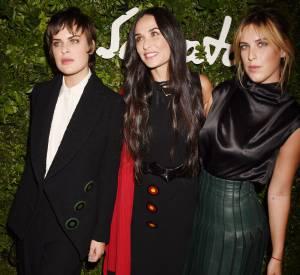 Demi Moore avec ses filles Tallulah Belle à gauche et Scout Larue à droite.