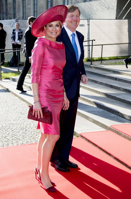 Maxima des Pays-Bas et son mari le roi Willem-Alexander, en visite à Munich ce mercredi 13 avril 2016.