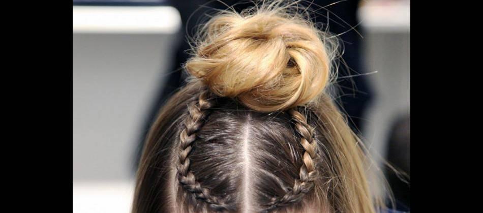 Exemple de coiffure effectuée au Braid Bar de Colette pendant la dernière Fashion Week.