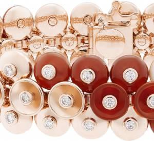 "Bracelet ""Bouton d'or"" en or rose, cornaline, nacre et diamants de Van Cleef & Arpels."