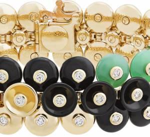 """Bracelet """"Bouton d'or"""" en or jaune, chrysoprase, onyx et diamants de Van Cleef & Arpels."""