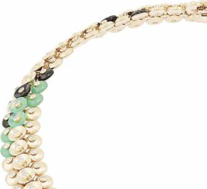 "Collier""Bouton d'or"" en or jaune, chrysoprase, onyx et diamantsde Van Cleef & Arpels."
