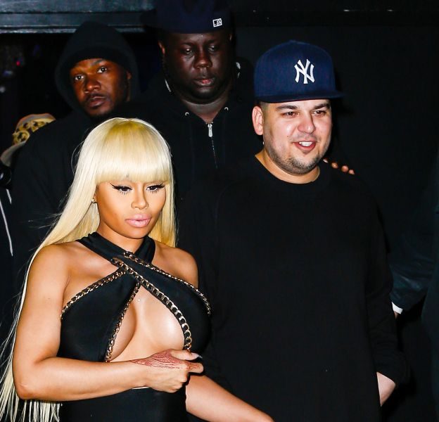 Blac Chyna et Rob Kardashian ce mercredi 13 avril 2016 au Aces Strip Club à New York.