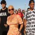 Amber Rose était fidèle à elle-même et affichait son décolleté affolant à Coachella 2016.
