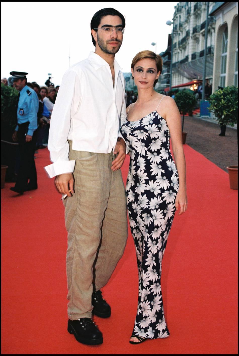 Emmanuelle Béart et son ex-compagnon David Moreau, le père de son fils Johan, 20 ans aujourd'hui.