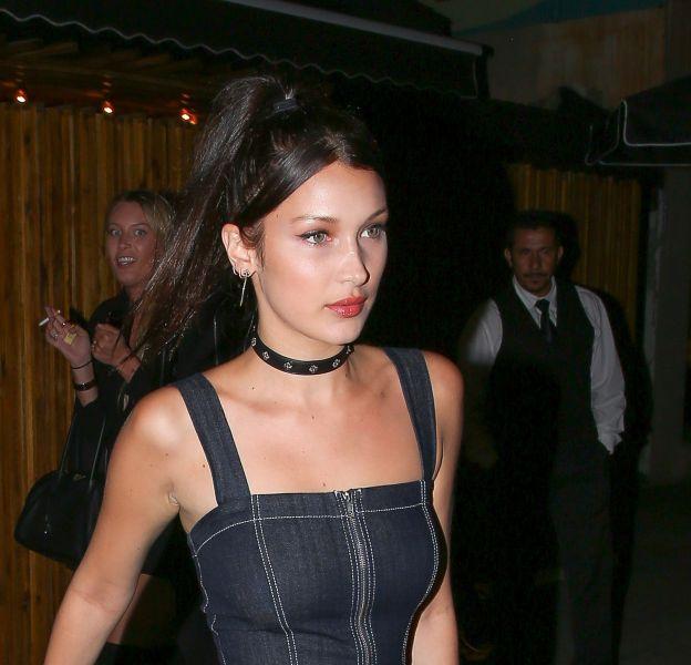 Bella Hadid était au top dans une tenue moulante et rock pour une soirée à Los Angeles.