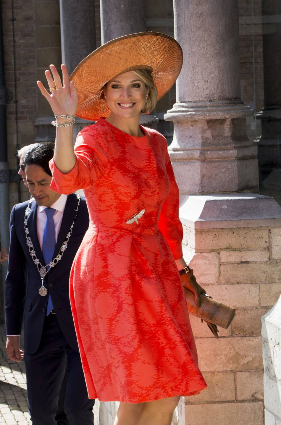 La reine Maxima a offert une apparition vitaminée jeudi 21 avril.