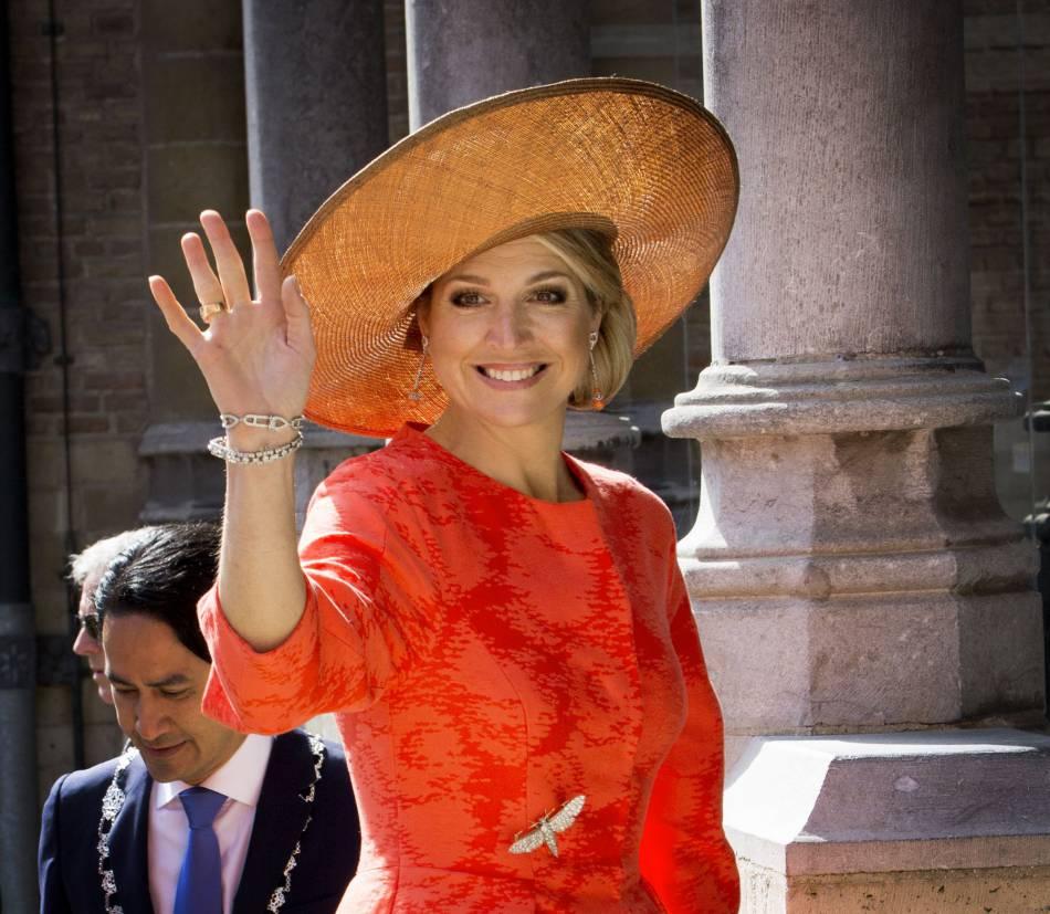 Le reine Maxima, la pro des looks flashy.