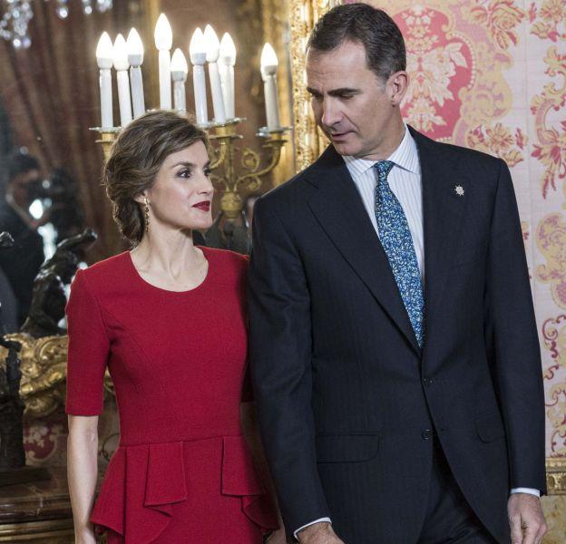 La reine Letizia d'Espagne et son époux, le roi Felipe VI