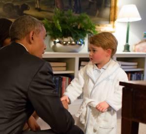 Prince George : en pyjama face à Barack Obama, il fait sensation sur la Toile
