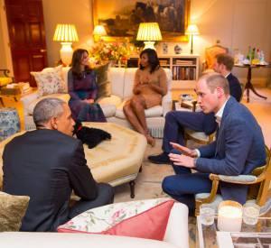 Les Obama ont passé un agréable moment à Kensington Palace avec le duc et la duchesse de Cambridge ainsi qu'avec le prince Harry.