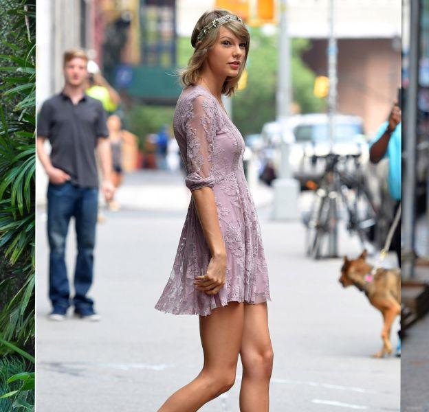 Taylor Swift, toujours preppy lorsqu'il s'agit de s'afficher dans la rue.