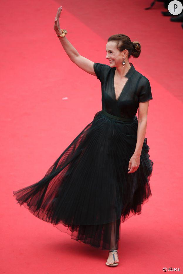 """Carole Bouquet assiste à la projection de """"Foxcatcher""""."""