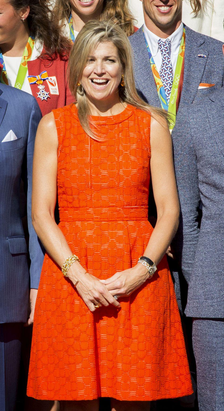 La reine Maxima a reçu avec son mari les médaillés olympiques à La Haye.
