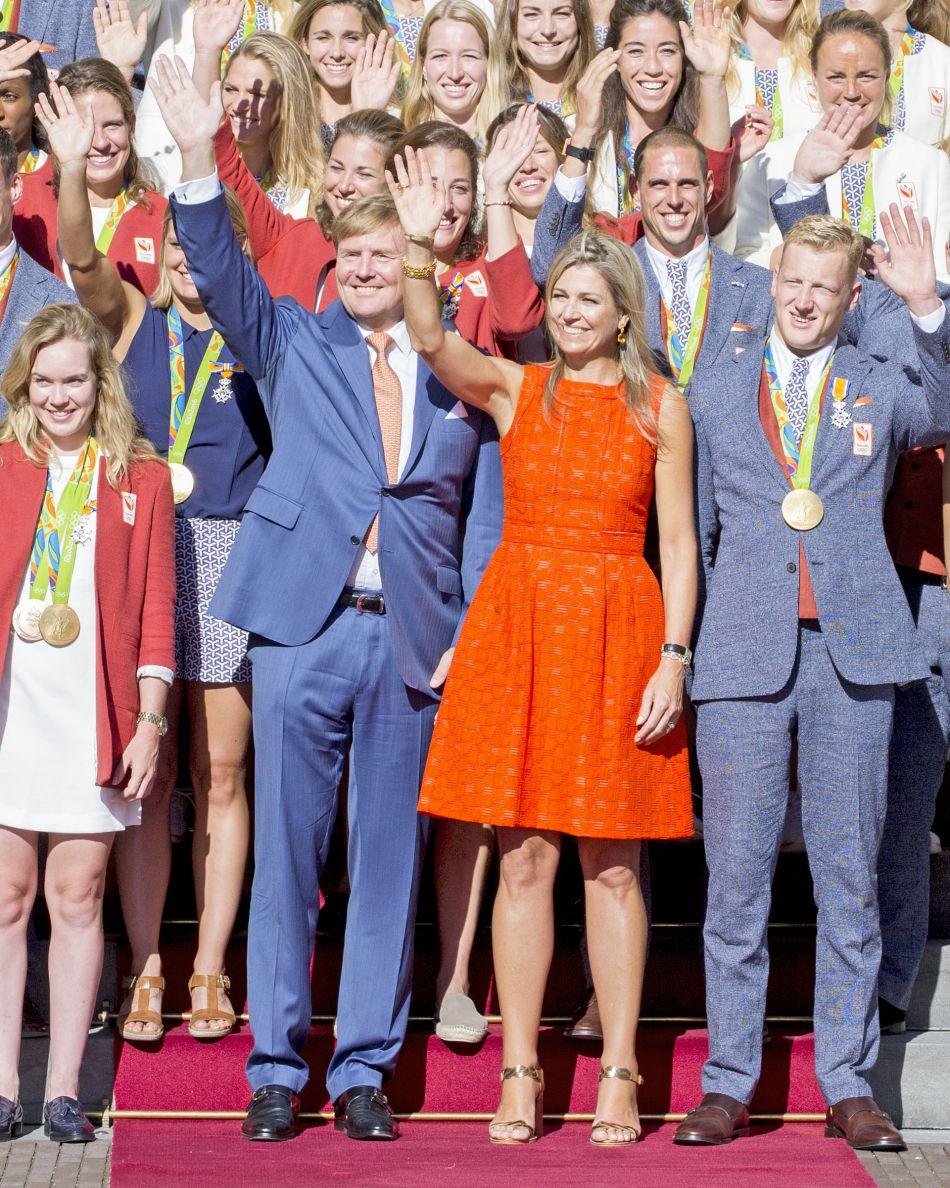 La reine Maxima et le roi avaient été vus dans les tribunes durant les Jeux Olympiques.