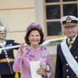 Le roi Carl Gustav et la reine Silvia étaient bien évidemment présents pour ce jour spécial.