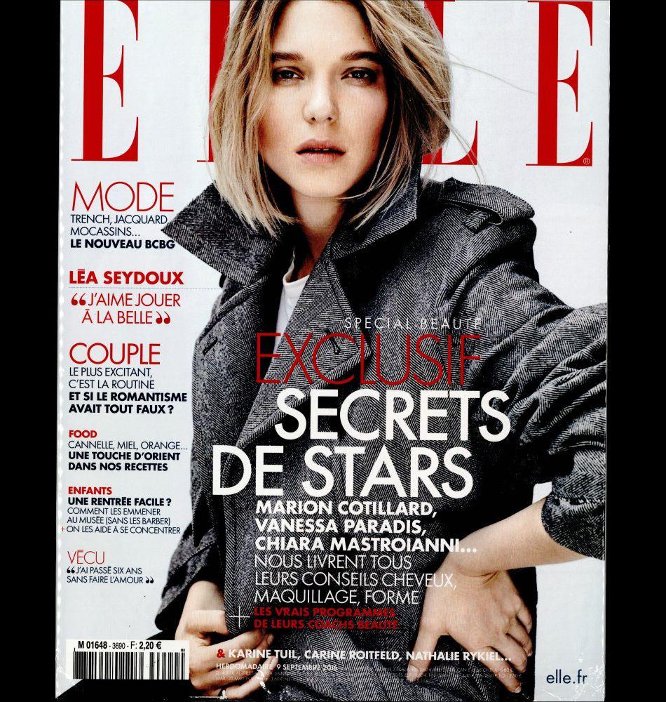 Vanessa Paradis confie ses secrets beauté dans le nouveau numéro de magazine ELLE.