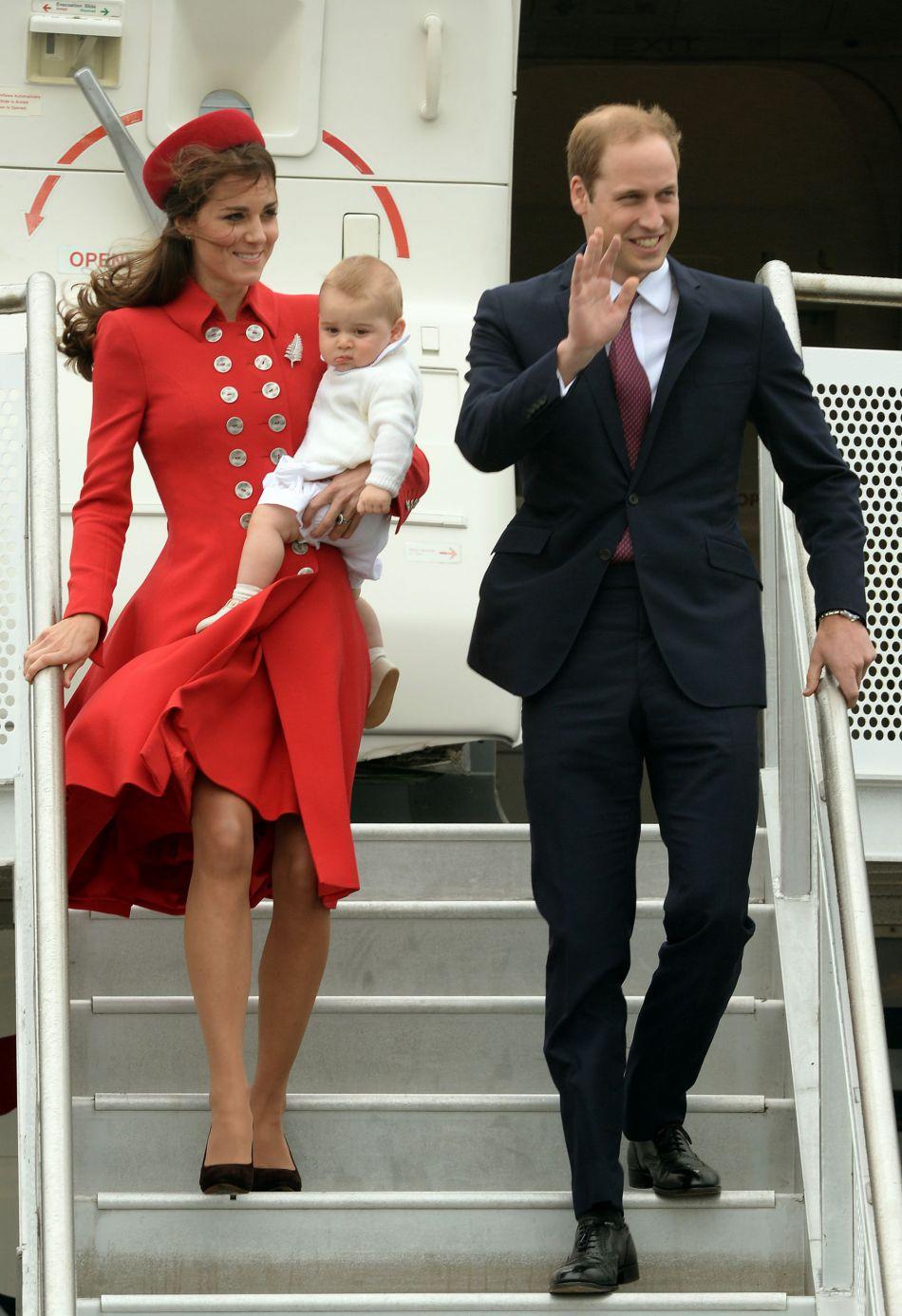 Le duc et la duchesse de Cambridge en Australie en 2014. Le 24 septembre prochain, on les retrouvera à leur descente de l'avion avec leurs deux enfants, au Canada !