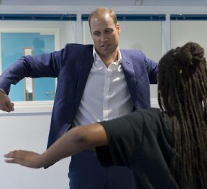 "Le prince William, duc de Cambridge, visite ""Caius House"", un centre pour les jeunes à Londres. ll s'y est rendu sans Kate Middleton."
