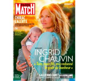 Ingrid Chauvin pose avec son fils Tom en couverture de Paris Match.