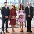 Kate Middleton et le prince William aux côtés de Justin Trudeau et de sa femme Sophie.