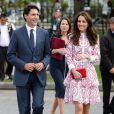 Kate Middleton sur son trente-et-un aux côtés du premier ministre canadien.