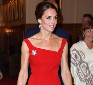 Kate Middleton : divine princesse en rouge, elle s'inspire d'Audrey Hepburn