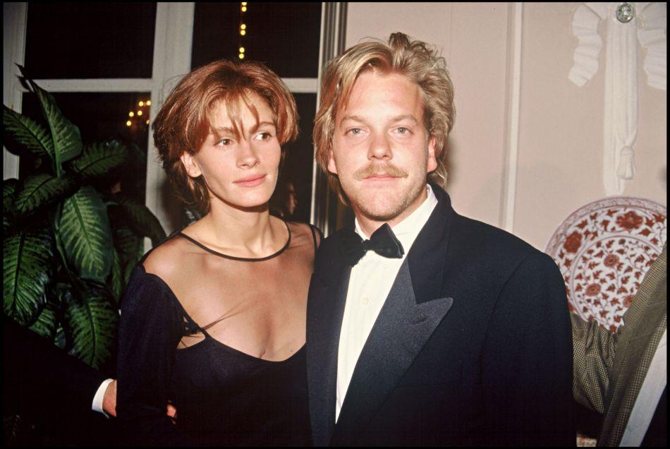 Julia Roberts et Kiefer Sutherland, avec qui elle a failli se marier en 1991.