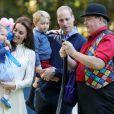 Kate et William avec leurs enfants lors de leur voyage au Canada, en septembre 2016.
