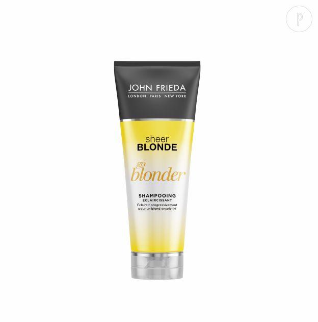 Shampoing éclaircissant Go Blonder de John Frieda, 7,90€.