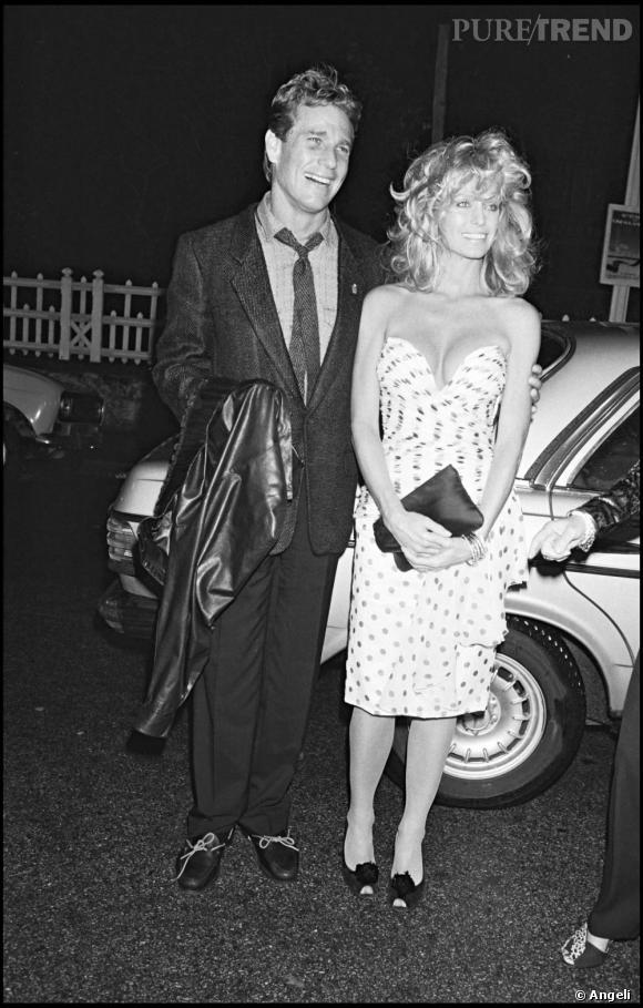 Ryan O'Neil et Farrah Fawcett en 1984