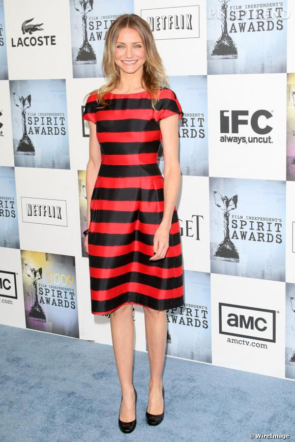 [people=2332]Cameron Diaz[/people] en robe [brand=4294929108]Michael Kors[/brand] aux Spirit Awards