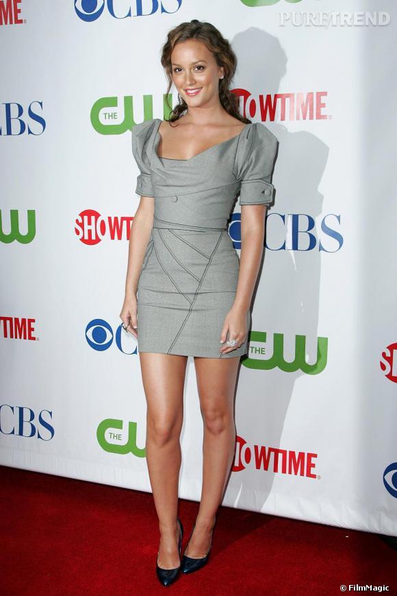 A 22 ans, Leighton Meester est devenue une véritable modeuse et le prouve ici avec cette robe   Zac Posen