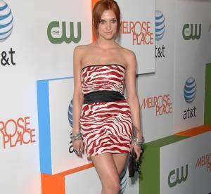 Ashlee Simpson: sexy en mini robe zébrée
