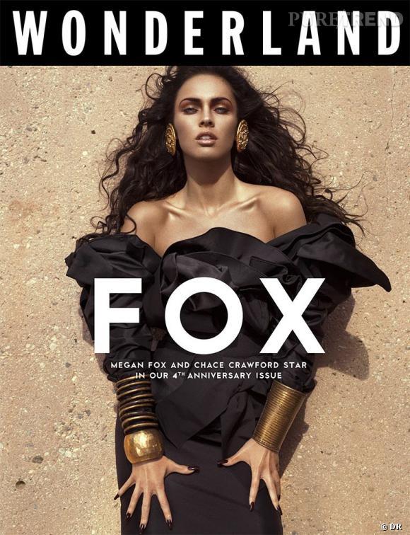 Megan Fox en couverture du magazine Wonderland.