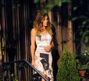 Sarah Jessica Parker gainée d'un journal Dior très sexy!