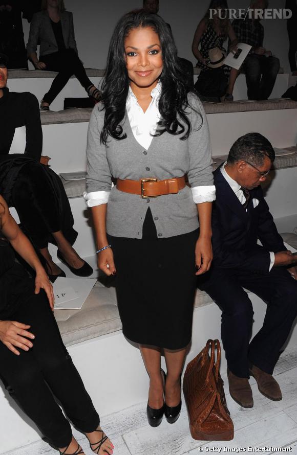Janet Jackson au défilé Ralph Lauren.