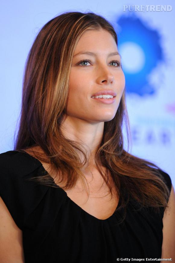 Jessica Biel à la conférence de presse de éDow Live Earth Run For Water""