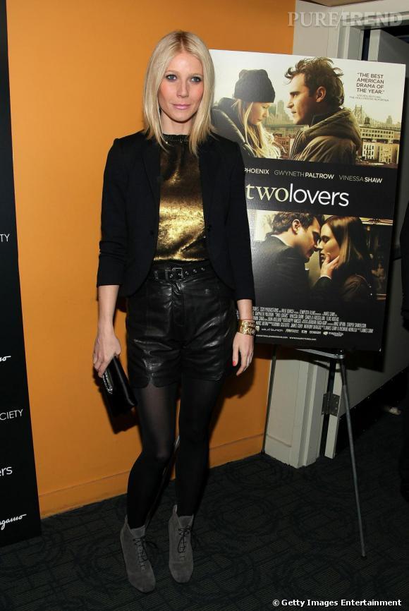 Sexy et exceptionnellement rock, Gwyneth Paltrow a tout bon, de la tête aux pieds